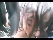 Blowjob in car till cum with a pretty girl and a big cock